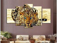 5pcs 5D DIY Diamond Painting Leopard Embroidery Full Square Diamond Cross Stitch Rhinestone Mosaic Painting Home