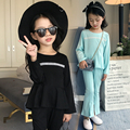 2 Pcs,T-shirt + pants,New Arrival 2017 Girls Clothes Sets Spring and Autumn Casual Fashion korean children clothing boutique