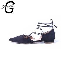 GENSHUO Women Flats 2016 Women Pointed Toe Flat Shoes Women Luxury Ladies Dress Shoes Girls Sapatilha Espadrilles