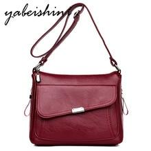 Fashion Ms Leather Shoulder Bags Female Hand bags Vintage Women Messenger Bag Sac a Main ladies handbags women fashion 2018
