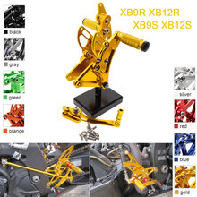 CNC Aluminum Adjustable Rearsets Foot Pegs For BUELL XB9S XB12S XB9R XB12R