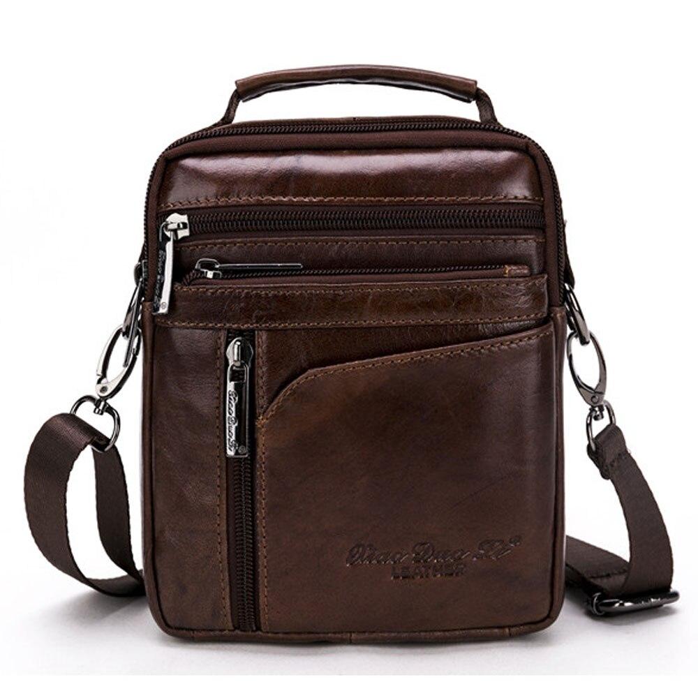New High Quality Men Business Handbag Genuine Leather Cowhide Retro Crossbody Single Shoulder Bag Casual Briefcase Handbags лакалют щетка зубная active мягкая