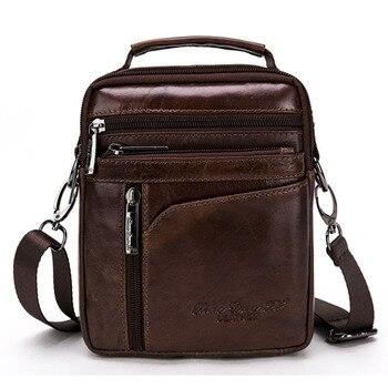 Yeni Yüksek Kaliteli Erkek Iş Çantası Hakiki Deri Inek Derisi Retro Crossbody basit omuz çantası Rahat Evrak Çantası Çanta