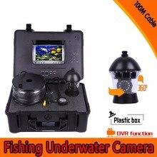 (1 مجموعة) 100 متر كابل HD 1000TVL خط 7 بوصة شاشة عرض ملونة ليلة نسخة للماء الصيد كاميرا DVR نظام CCTV