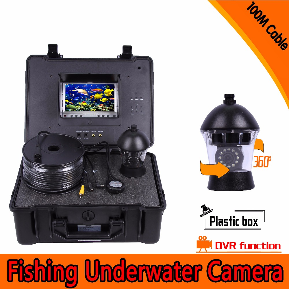 (1 set)100M cable HD 1000TVL Line 7 inch Colorful display screen Night version waterproof Fishing Camera DVR System CCTV-in Surveillance Cameras from Security & Protection