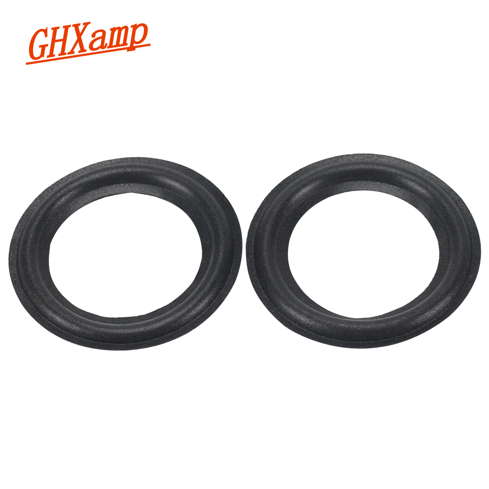GHXAMP 3 INCH Speaker Foam Repair Speaker Surround Diy  Sponge Side Edge Ring Circle Accessories 2PCS