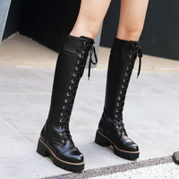 KarinLuna 2018 Fashion large size 34 43 square Heels boots women's Shoes Woman Boots female knee high Boots Woman boots