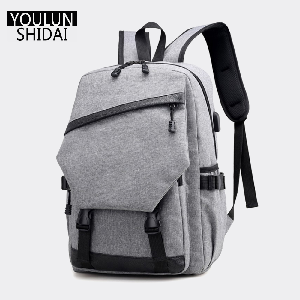 Youlunshidai Anti-Theft USB Backpack Men Bag Big Capicity Boy Bags for Travel Casual Bags Multifunction School DayPack Backpacks new gravity falls backpack casual backpacks teenagers school bag men women s student school bags travel shoulder bag laptop bags
