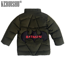 KeRuiShu Winter Coats for Boys Warm Coat Kids Clothes Snowsuit Outerwear  Children Cartoon Bat Hoodie Jacket Thicken Parkas