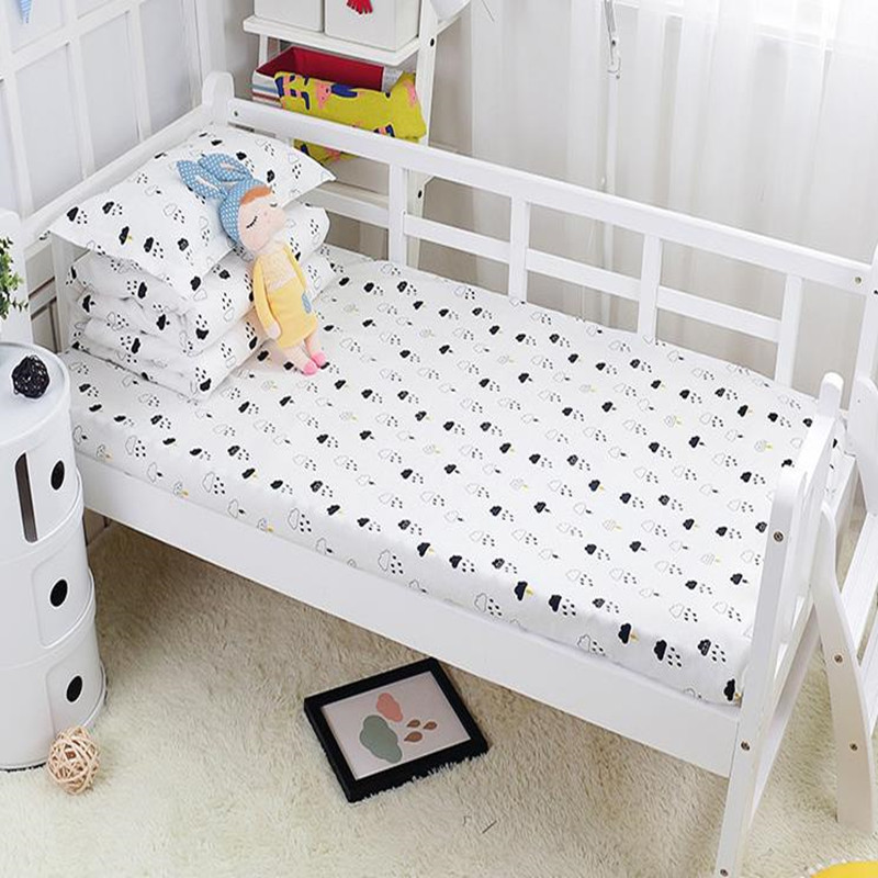 Enthusiastic With Filling Cartoon Baby Bedding Kit Crib Bedding Set Piece Baby Bed 100% Cotton duvet/sheet/pillow