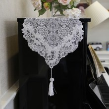 New European Pastoral Ivory White Dining Table Runner Mats Dressing TV Cabinet Coffee Desk Flag Tablecloth Piano Dustproof Cloth