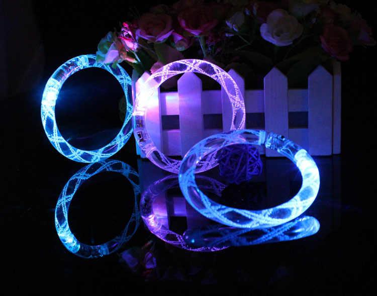 Light up สร้อยข้อมือกระพริบของเล่น Thread luminous แฟลชสร้อยข้อมืออะคริลิค luminous LED สร้อยข้อมือ