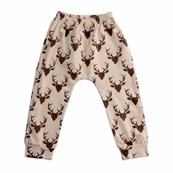 Spring Autumn Baby Pants Children Trousers Cartoon Pants Boys Girls Haren Pants 2-5years image