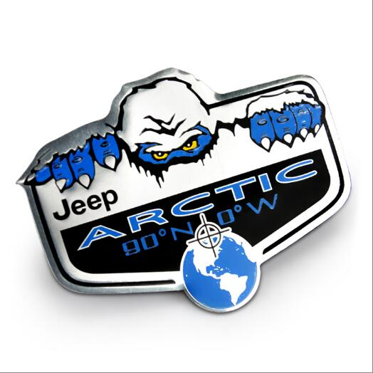 free shipping 1pcs Car Chrome Badge Emblem Arctic Yeti Edition Emblem MOPAR Wrangler JK car body stick