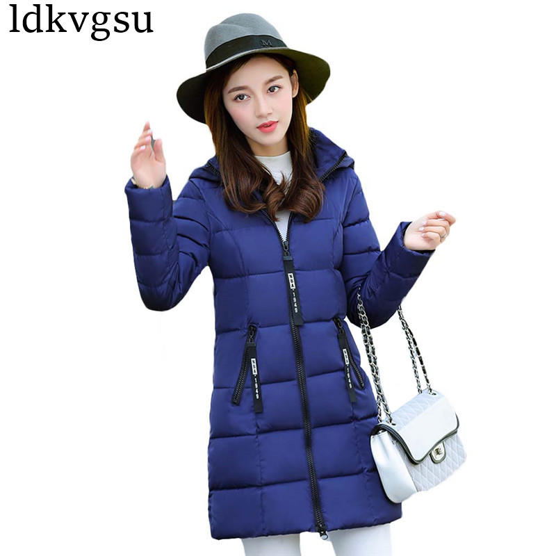 Cheap 2019 New Autumn Winter Jackets Hot sale Women fashion casual Ladies work wear against snow warm Coat Female Parka v258