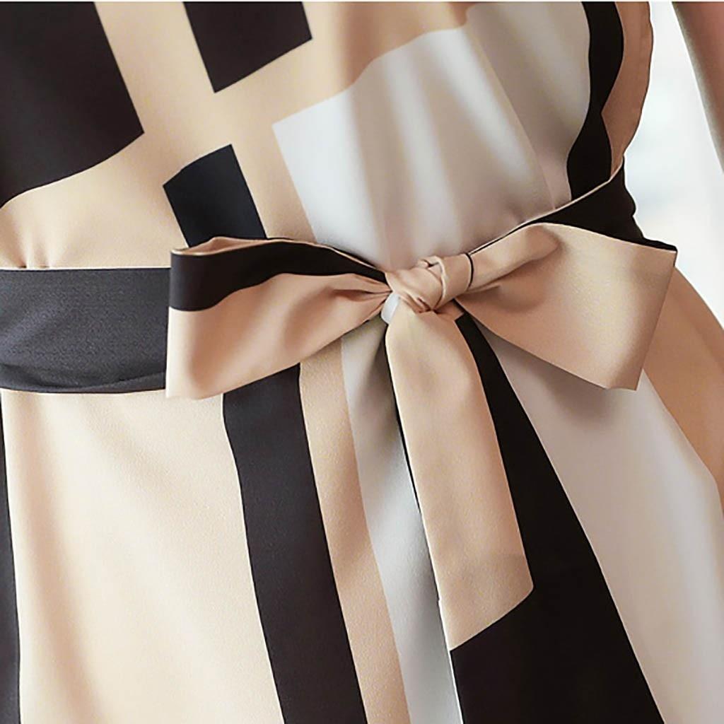 HTB1aoVcaAY2gK0jSZFgq6A5OFXal Elegant party dresses women evening 2019 Women Fashion Summer O-Neck Knee Length Short Sleeve Bandage Printing Dress sukienka