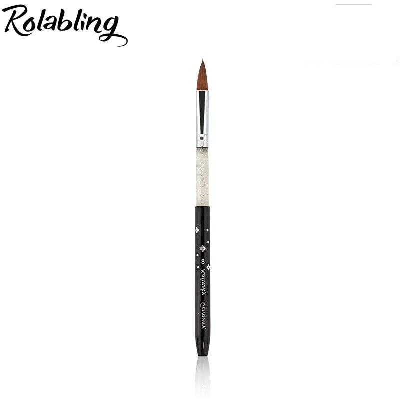 Rolabling luxury 8 black 100 Kolinsky Sable Brush gel nail brush for kolinsky acrylic nail brush