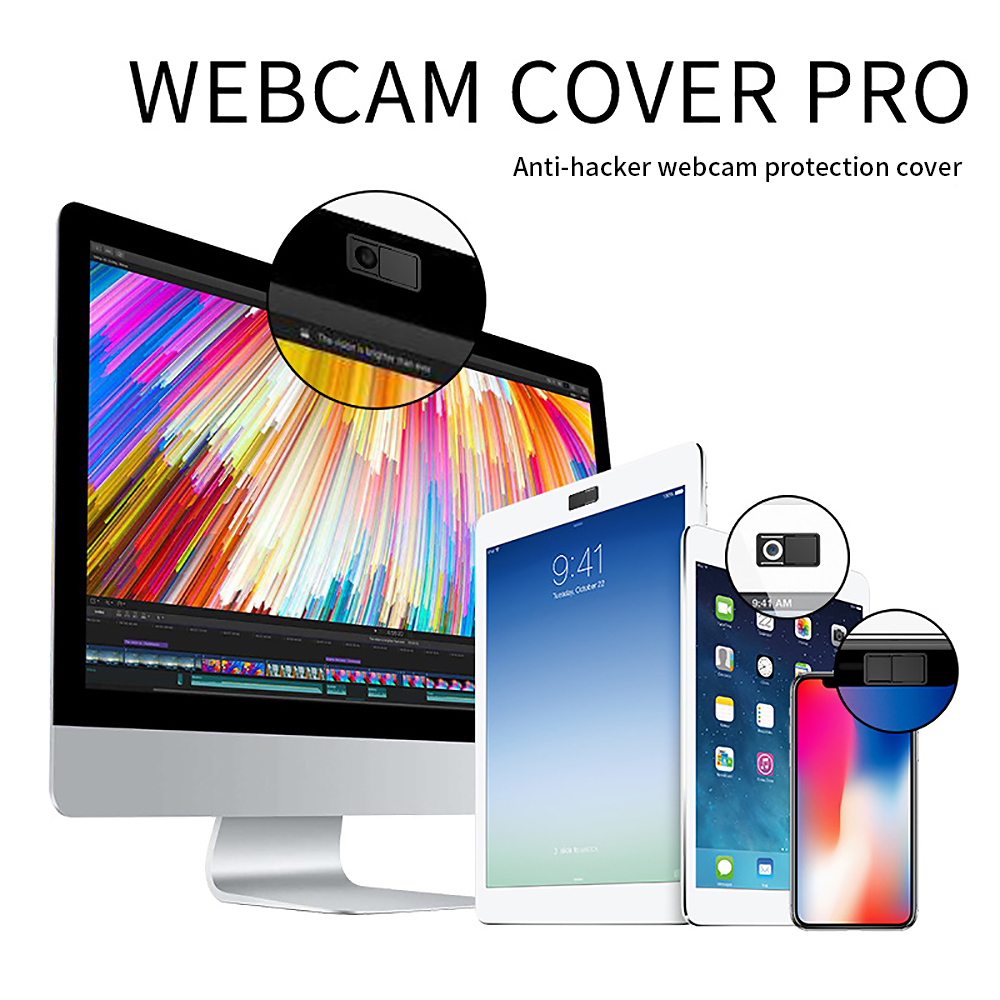 3 in 1 Webcam Shield Protector Ultra Thin Slider Plastic Camera Cover For Laptop iPad PC ...