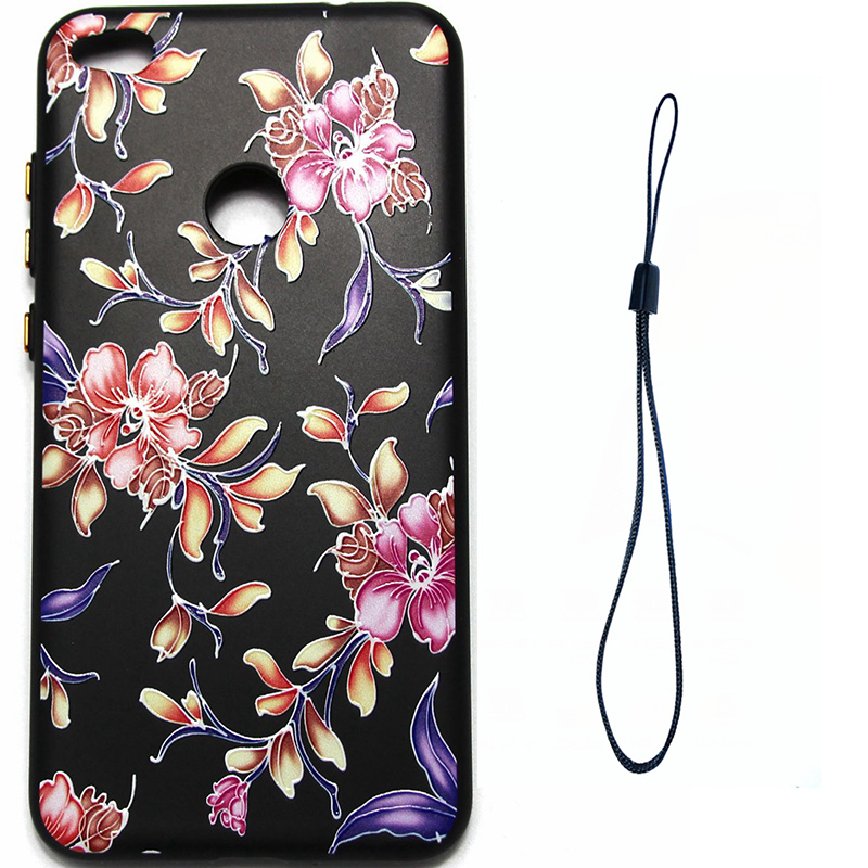 3D Relief flower silicone case huawei p8 lite 2017 honor 8 lite (6)