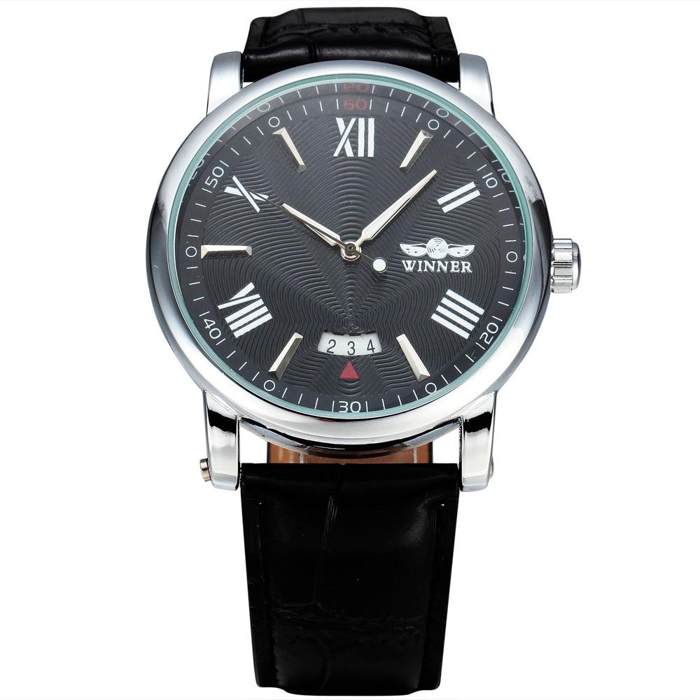 WINNER Horloges Classic Mens Auto Date automatisch Mechanisch horloge - Herenhorloges