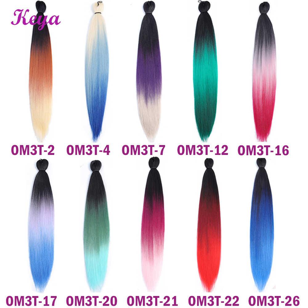 Легкие Джамбо косы Омбре плетение волос предварительно Пернатые EZ оплетка 24 дюйма крючком косы синтетические волосы для наращивания для черных женщин
