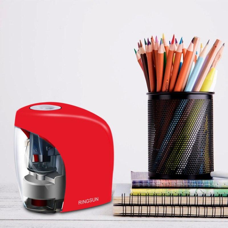 Электрический Автоматическая точилка для карандашей школы точилка канцелярские принадлежности для № 2(8 мм) карандаши и цветные карандаши батарея/USB зарядка питание