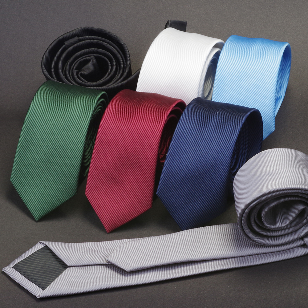 GUSLESON Men Solid Navy Blue Classic Ties for Bridegroom Green Color 6cm Slim Neck Ties for