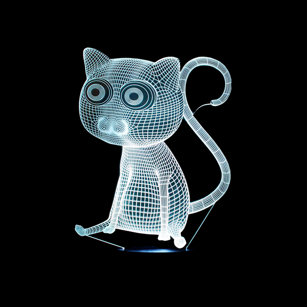 Cat Basketball penguins 3D Night light baby Creative USB Lamp Colorful LED Desk lamp touch and Remote Switch Colored lights