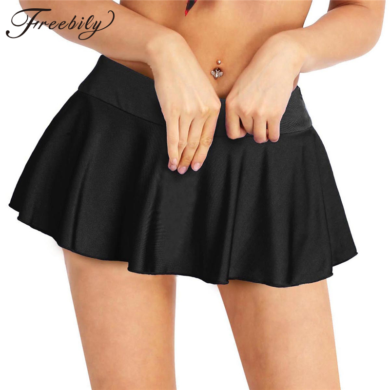 Women Fashion Sexy Clubwear Miniskirts Stretchy Active Micro Mini Pleated Skirt With Inner Shorts Short Skirt For Performance