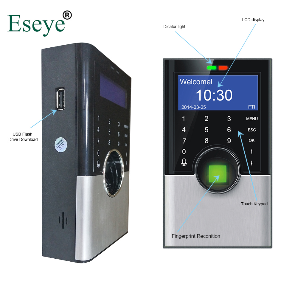 Eesye Biometric Fingerprint Time Attendance TCP/IP Clock Recorder Employee Recognition Device Electronic Machine Digital Reader eesye biometric fingerprint time attendance system time clock time recorder office employee electronic digital reader machine