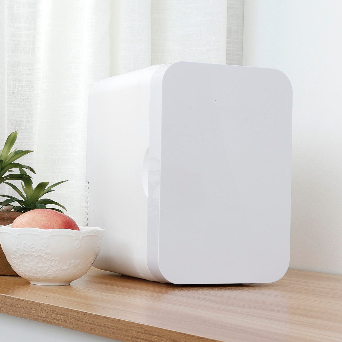 AUGIENB 6L Mini Refrigerator Small Household Dormitory Single Door Car Home Dual-use Car Refrigerator Dual Use Car Use 24V 12V