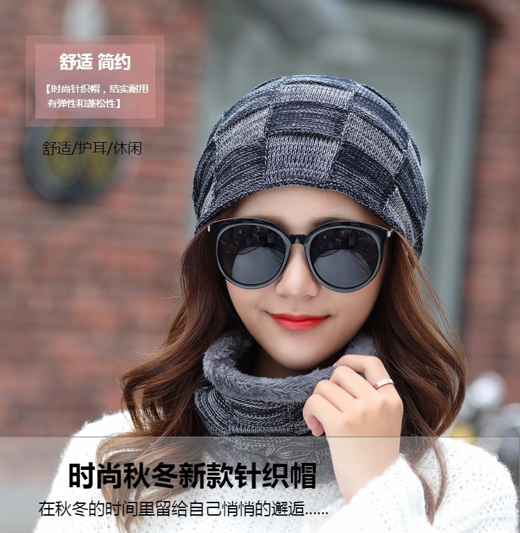 be9c528cc7d23 Balaclava Women S Knitted Hat Scarf Caps Neck Warmer Winter Hats For ...