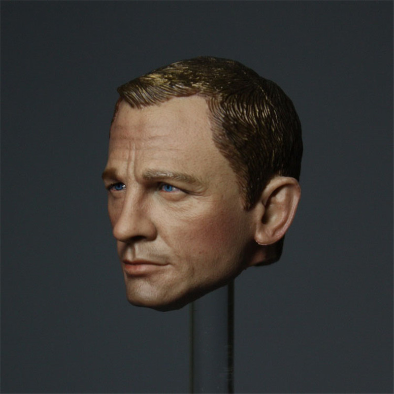 Mnotht 1/6 james bond Head Sculpt 1:6 Scale Male Solider Head Carving Model For 12in Action Figures l30 mnotht head sculpt 1 6 solider head model mk42 mk43 iron man toni carved head for 12in figures toys and body l30