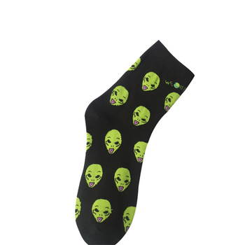 New Cotton Casual Socks for Women Men Cat Alien Socks Hip Hop Harajuku Skateboard Funny Socks Femlae Meias woman Sox Women Socks