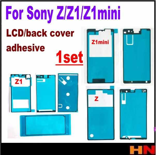1 ensemble adhésif étanche pour SONY Z L36H C6602 C6603 Z1 L39H C6903 Z1mini M51W Lcd autocollant couverture arrière adhésif ensemble complet ruban adhésif