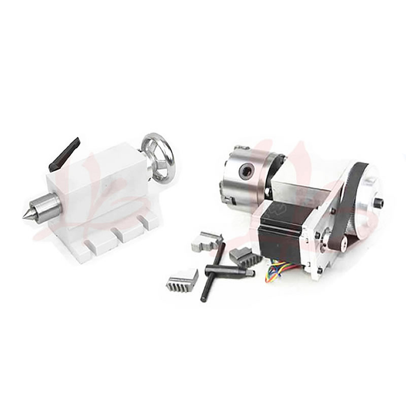LY CNC Tailstock and Rotary Axis, A Axis, 4th Axis for Mini CNC Router Milling Machine Cnc Parts cnc 5 axis a aixs rotary axis three jaw chuck type for cnc router
