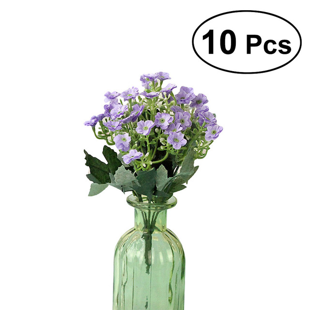 10pcs Artificial Lilac Flowers Simulation Plants Fake Decorative ...