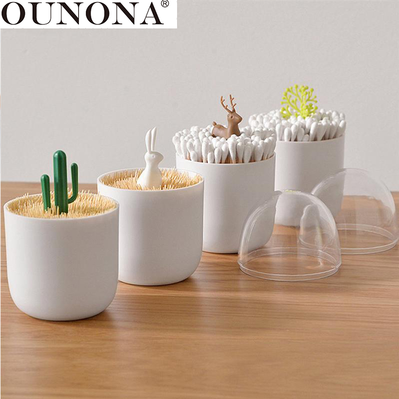 OUNONA 1 Pc Container Cotton Swab Storage Box Toothpick