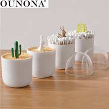 OUNONA 1 Pc Deer Shaped Cute Creative Practical Organizer Dispenser Container Toothpick Holder for Office Home