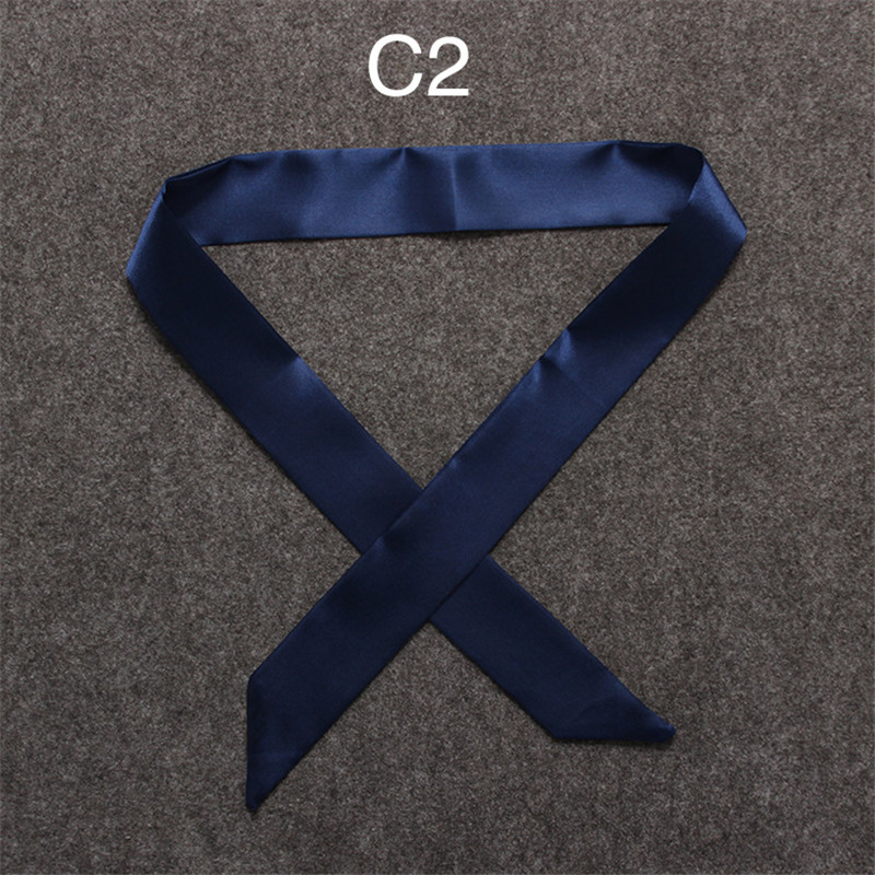 HTB1aoX1oRDH8KJjSspnq6zNAVXab - 100X5cm 2018 New Scarf Luxury Brand Small Solid Color Silk Scarf Women Head Scarf Headwear Handle Bag Ribbon Strap Scarves