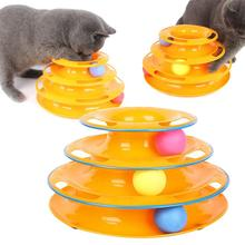 Cat Dog Intelligence Toy Three Levels Tower Disc