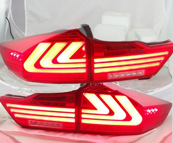 car styling for Tail Lamp for City taillight 2014 2015 2016year City Rear Light DRL+Turn Signal+Brake+Reverse LED lights