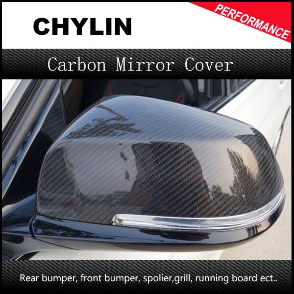 Remplacement de fiber de carbone arrière vue latérale miroir caches pour 2012 2013 2014 BMW 1 2 3 4 X Série F20 F22 F23 F30 F32 F33 X1 E84