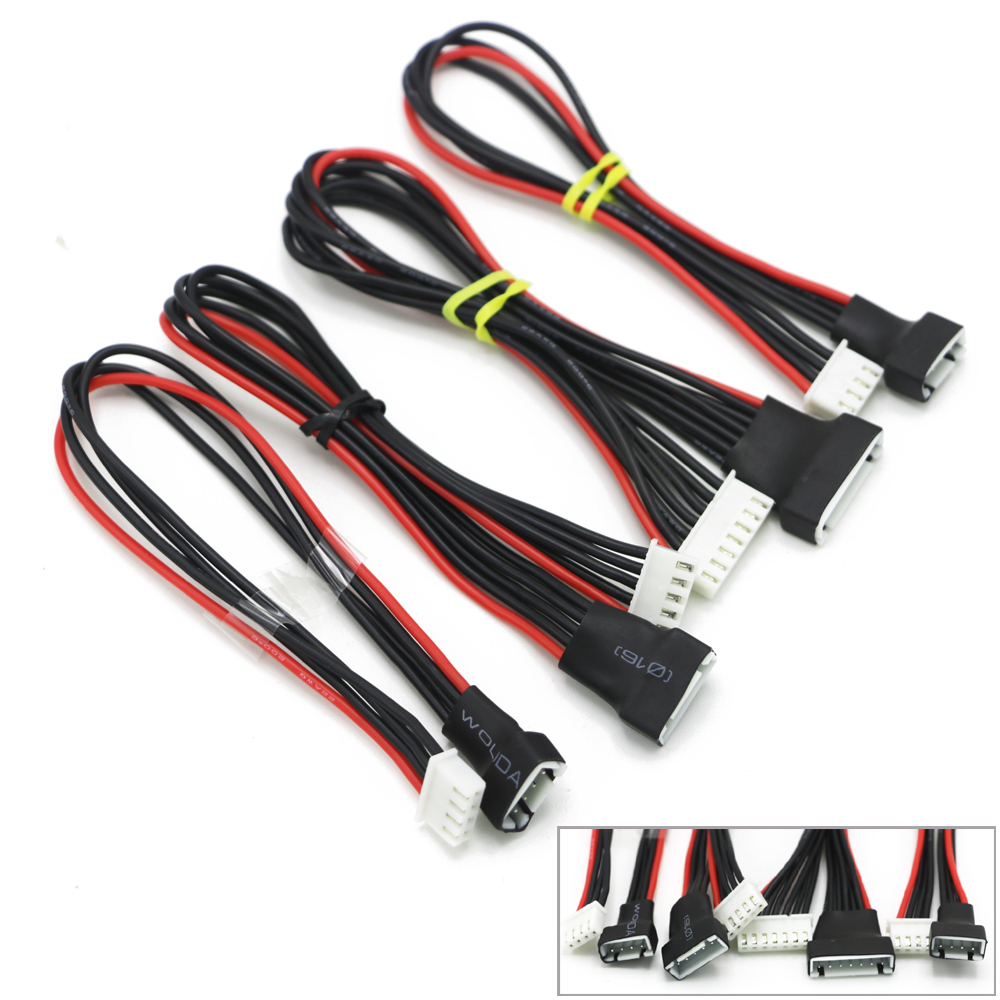 цены 5pcs/lot JST-XH 2S 3S 4S 6S 20cm 22AWG Lipo Balance Wire Extension Charged Cable Lead Cord for RC Battery charger