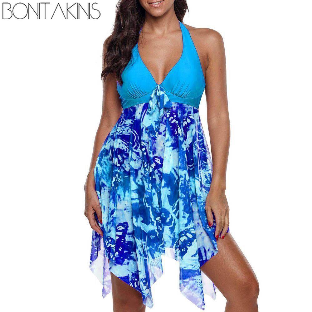 e89658b93bbc4 Bonitakinis Sexy Irregular One Piece Swimsuit Plus Size Push Up Bathing Suit  Oversize 5XL Swimwear female