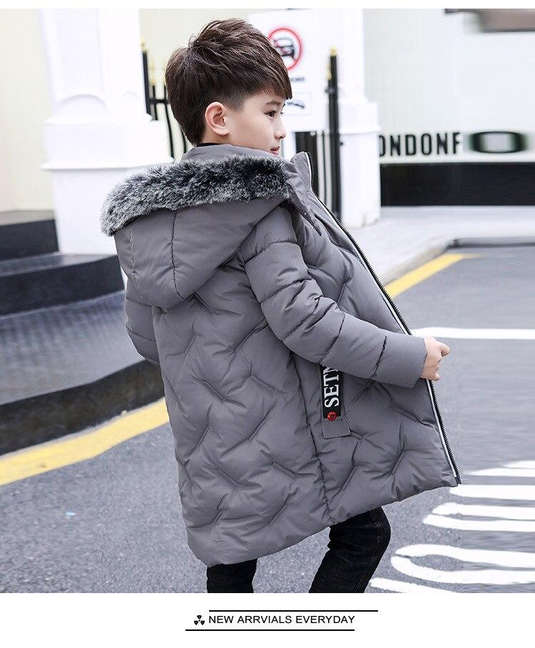 casaco de pele crianças menino para baixo