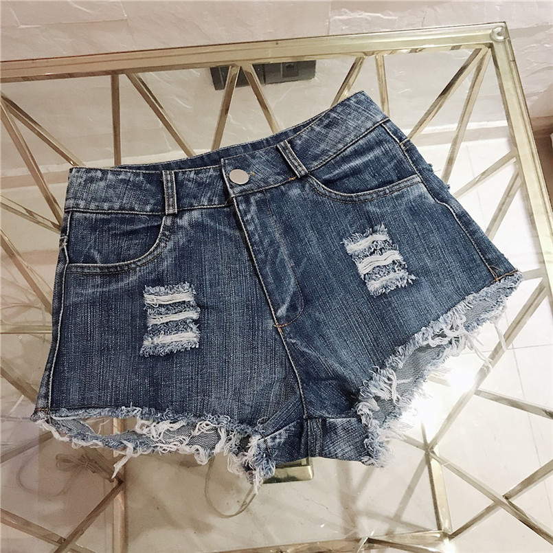 Hot New Style Summer Sexy Women Cool Hole Denim Jeans Fashion Hole Pockets Mini Shorts Jean For Women Girls 40MA07 (19)