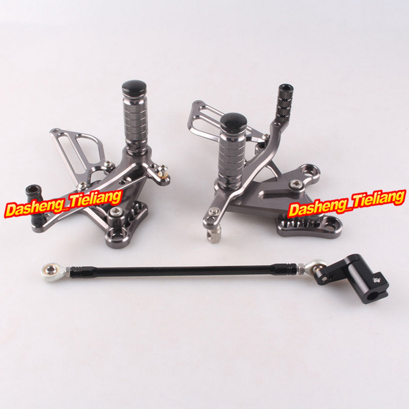Adjustable Shift Foot Pegs Rear Set Footrests Replacement Kit For Honda NSF100 <font><b>NSR50</b></font> All Years Motorcycle Accessory Parts image