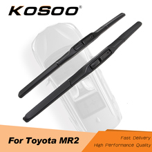 KOSOO For TOYOTA MR2 Cabrio/MR2 Spyder 1999 2000 2001 2002 2003 2004 2005 2006 Fit J Hook Arm Auto Natural Rubber Wiper Blades aluminum radiator fit for toyota cellica gt gts 2000 2005 2row manual