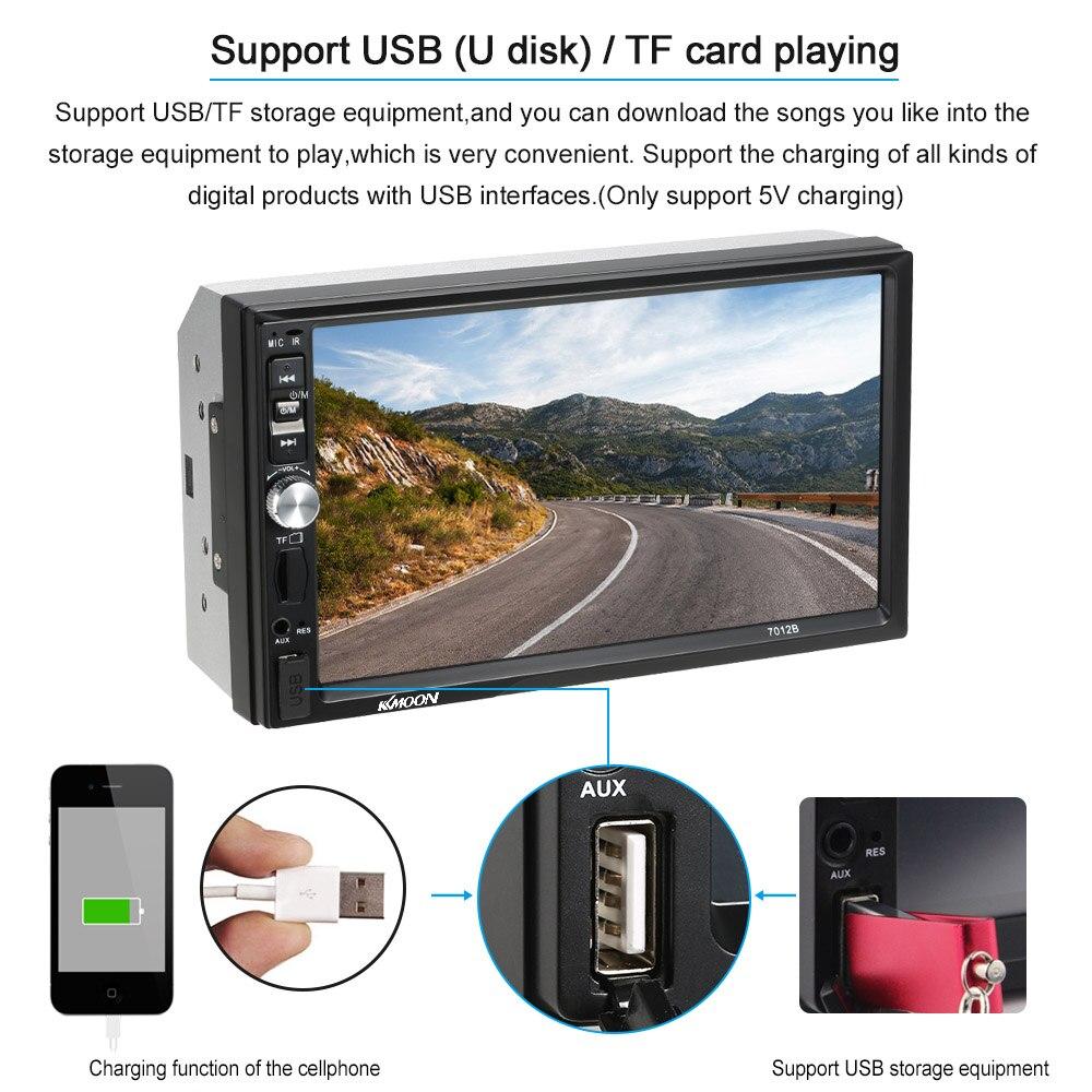 Autoradio 7 inch Automagnitola 2 Din Car Radio MP5 Player Multimedia for ford focus 2 seat